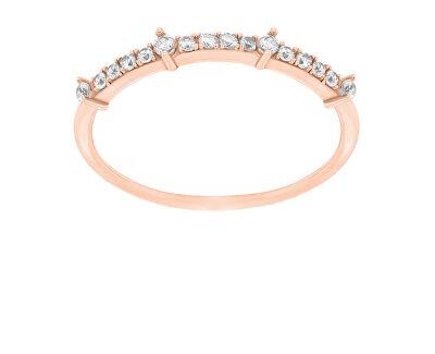Něžný bronzový prsten se zirkony GR075R