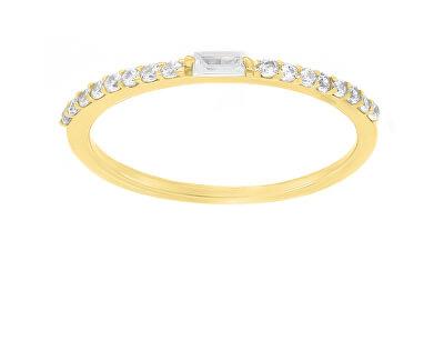 Něžný pozlacený prsten se zirkony GR006Y
