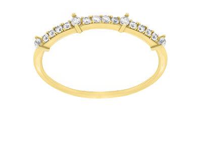 Něžný pozlacený prsten se zirkony GR075Y