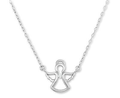Něžný stříbrný náhrdelník s andělíčkem 476 001 00145 04