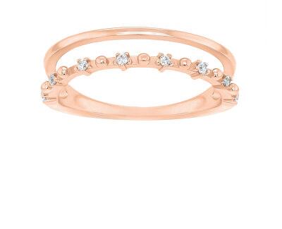 Okouzlující bronzový prsten se zirkony GR043R
