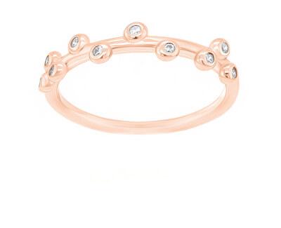 Okouzlující bronzový prsten se zirkony GR107R