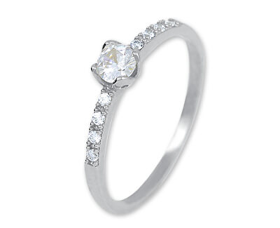 Okouzlující stříbrný prsten s krystaly 426 001 00572 04