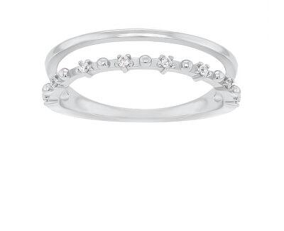 Okouzlující stříbrný prsten se zirkony GR043W