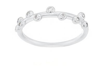 Okouzlující stříbrný prsten se zirkony GR107W