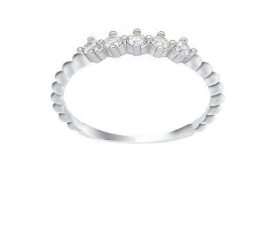 Okouzlující stříbrný prsten se zirkony GR122W