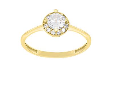 Pozlacený zásnubní prsten GR003Y
