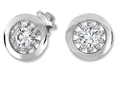 Půvabné stříbrné náušnice s krystaly 436 001 00530 04