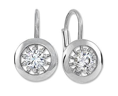 Půvabné stříbrné náušnice s krystaly 436 001 00531 04