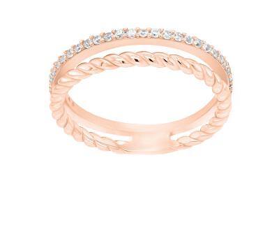 Půvabný bronzový prsten se zirkony GR044R