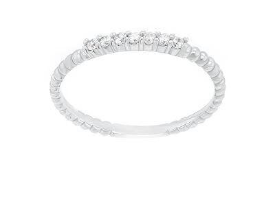 Půvabný stříbrný prsten se zirkony SR045W