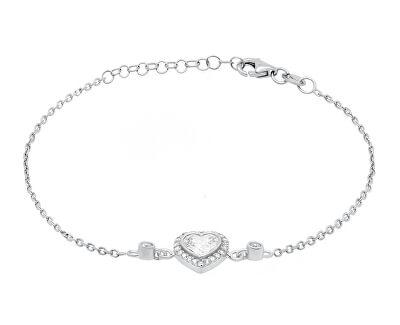 Romantický stříbrný náramek se zirkony BR23W