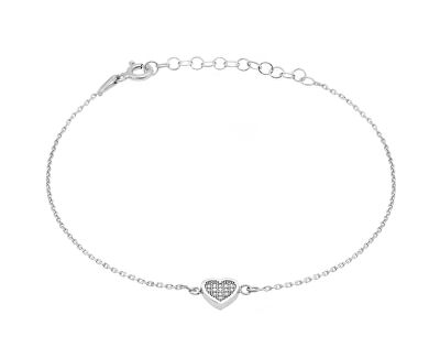 Romantický stříbrný náramek Srdce BR18W