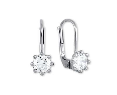 Stříbrné náušnice s krystaly 436 001 00235 04