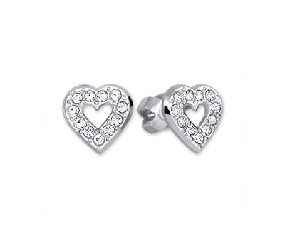 Stříbrné náušnice Srdce 438 001 00614 04