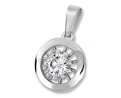 Stříbrný přívěsek s čirým krystalem 446 001 00409 04