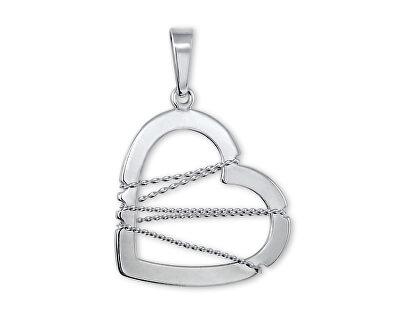 Stříbrný přívěsek Srdce s drátkem 441 001 02063 04 - 1,22 g