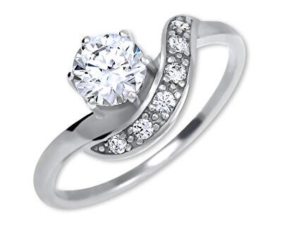 Stříbrný zásnubní prsten 426 001 00534 04
