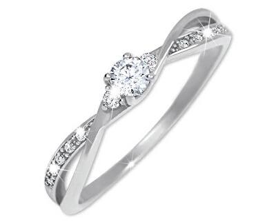 Stříbrný zásnubní prsten 426 001 00544 04