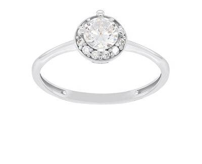 Stříbrný zásnubní prsten GR003W