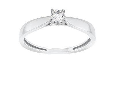 Stříbrný zásnubní prsten GR114W