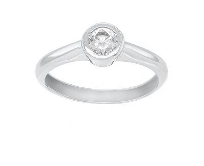 Stříbrný zásnubní prsten se zirkonem SR042W