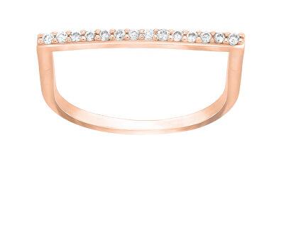 Stylový bronzový prsten se zirkony GR062R