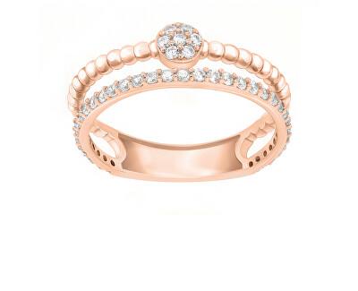 Úchvatný bronzový prsten se zirkony GR063R