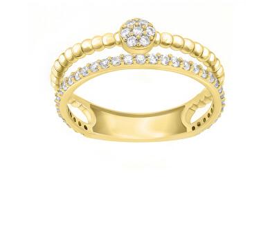 Úchvatný pozlacený prsten se zirkony GR063Y