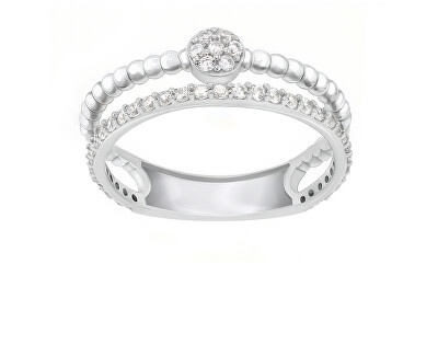 Úchvatný stříbrný prsten se zirkony GR063W