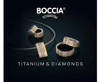 Inel din titan cu diamante 0135-02