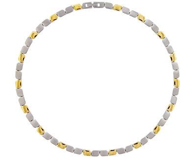 Colier bicolor loxos din titan 08003-02