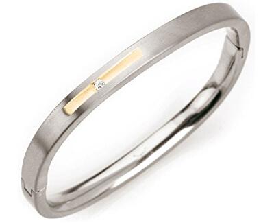 Brățară solidă din titan cu diamant 0304-01