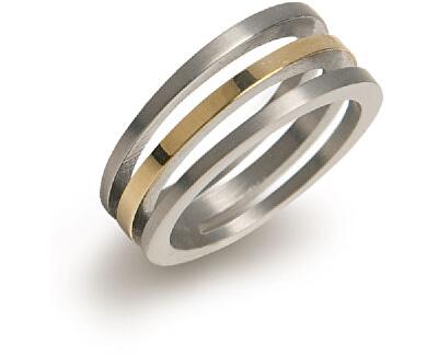 Pozlátený titánový prsteň 0128-02