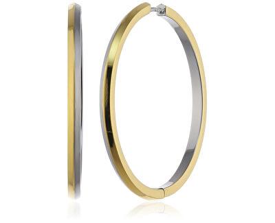 Cercei din oțel bicolor cercuri 0573-02
