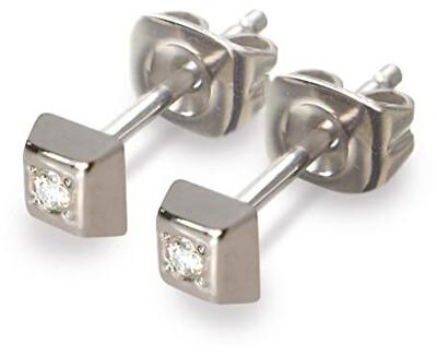 Titánové náušnice s diamantom 0538-01