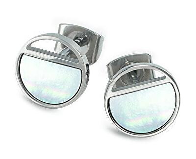 Titánové náušnice s perleťou 05034-01