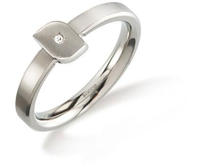 Titánový prsteň s diamantom 0141-02