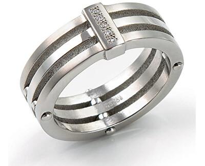 Titánový prsteň s diamantmi 0126-01