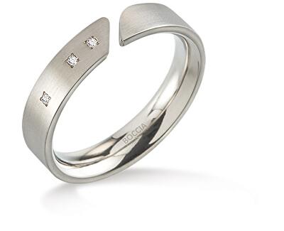 Titánový prsteň s diamantmi 0140-02