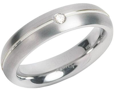 Titánový snubný prsteň s diamantom 0130-05