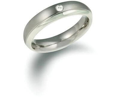 Titánový snubný prsteň s diamantom 0130-11