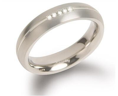 Titánový snubný prsteň s diamantmi 0130-03