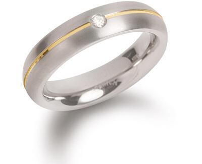 Titanový snubní prsten s diamantem 0130-06