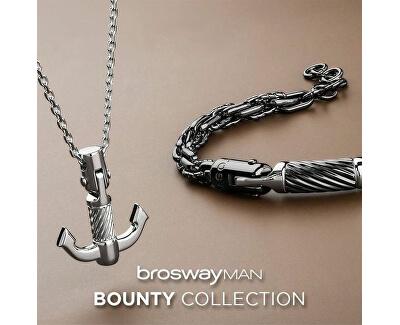 Colier din oțel cu ancoră pentru bărbațiBounty BOU02