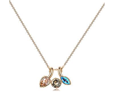 Pozlátený náhrdelník s kryštálmi Affinity BFF71