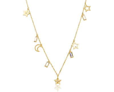 Hravý pozlátený náhrdelník s príveskami Chant BAH06