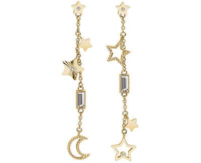 Hviezdičkové pozlátené náušnice s kryštálmi Chant BAH22