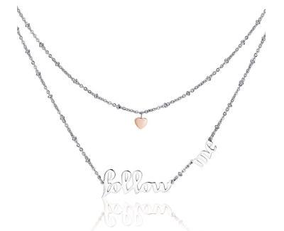 Oceľový náhrdelník Follow Me Script BRP03