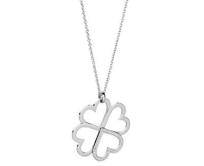 Edelstahl Halskette mit Kleeblatt C-lover BOV01